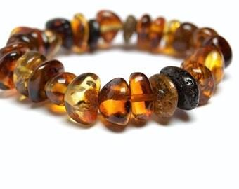 Elegant Baltic Amber Bracelet Stretch
