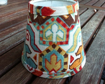 Chandelier lampshades bold Kilim style shade wall sconce tribal lampshade