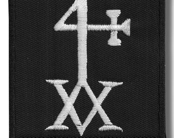 Hermetic cross - embroidered patch, BUY3 GET4, 3,2 X 3,2 INCH