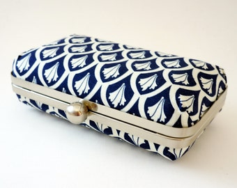 Navy & Ivory 1920's Inspired Bridal Minaudiere Box Clutch - Evening/Bridesmaid Handbag - Includes Chain - Ready to Ship