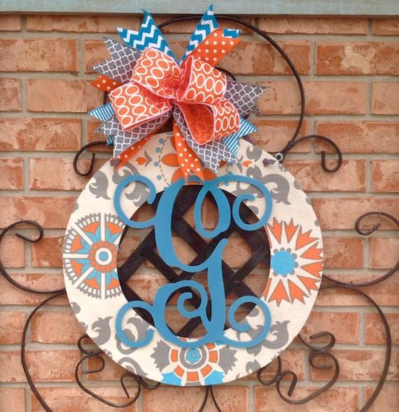 Home Decor Wreaths: Door Hanger Personalized Door Wreath Wood Wreath Home Decor