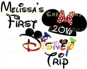 First Disney Trip Fab Five 2016 Custom DIY Printable Iron On Transfer or Door Magnet Disney Family Vacation Disney Cruise Disney World