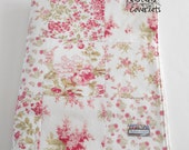 Minky Baby Girl Patchwork Blanket Moda Whitewashed Cottage Flowers 2 Sizes--Made to Order