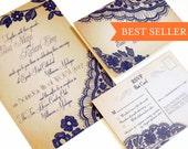 Wedding Invitation - Elegant Wedding Invitations - Lace invitation {Bellevue Design}