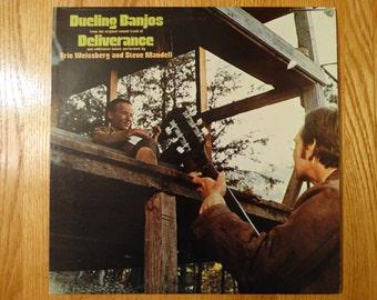SALE Vintage 1973 Deliverance Vinyl Record Album Dueling Banjos Soundtrack Burt Reynolds Hillbilly Vacation