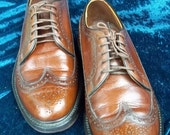 RESERVED for Lou P//Fabulous longwing,brogues,gunboats made in the USA , leather burnished brown