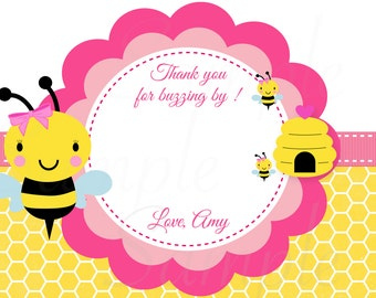 Baby Bumble Bee Thank you card or centerpiece Birthday Baby Shower Printable File