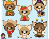 Halloween Chihuahua Clip art  Clipart Graphics  Commercial Use