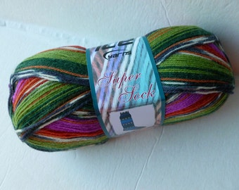 Sale Magenta and Green Super Sock by Ice Yarns