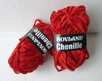 Yarn Sale  -  Scarlet  4042 Chenille by Hovland