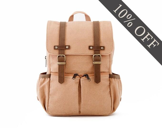 Kids Backpack / Canvas Backpack / Kids Bag / School Backpack / Anti-Lost / Tan Canvas / CITYKID