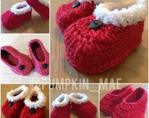 Baby Shoes, Baby Christmas Shoes, Christmas, Baby Booties, Crochet Baby Shows, Winter Fashion, Baby Slippers, Baby Booties, Valentines