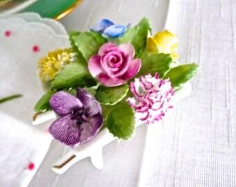 Porcelain Flowers -Royal Adderley Floral- Adderley Fine Bone China -Cabinet Ornament -Hand Painted Porcelain Flowers -Birthday Floral Gift