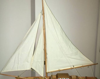 """24"""" Sailboat with lines and rigging"""