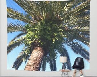 Tapestry - Dreamy Palm Tree - Ocean Beach Tropical Island Nautical - Bedroom Living Room - Home Goods Decor 51x60 68x80 88x104