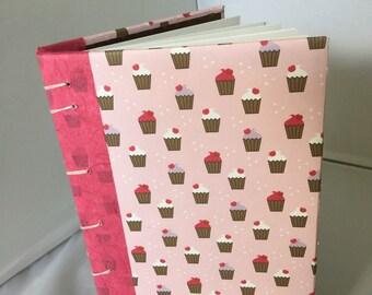 Blank Journal Sketch Book Pink Cupcakes Blueprint Birds Diary Guest Book Shower Anniversary Birthday