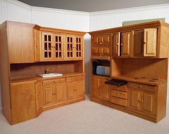 1:12 scale Dollhouse Kitchen