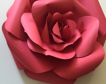 One Large Paper Rose