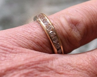 Gold and Diamond Anniversary band