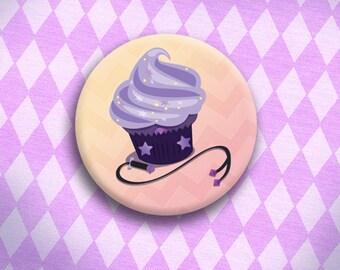 Crystal Cupcake - Amethyst Button