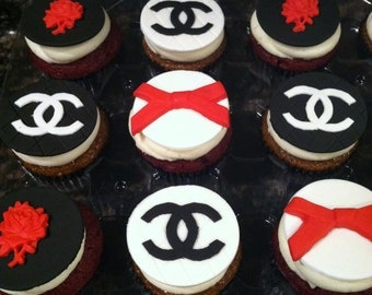 Chanel Theme Cupcake Toppers