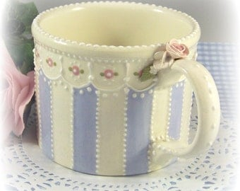 Large Striped Mug