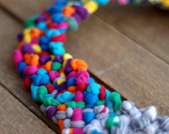 POP necklace - grey/multicolor/Upcycled/knot/eco-friendly/antiallergic/babyfriendly/cirrhopp