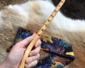 Wand - handmade - all natural wood with bag - wicca witchcraft pagan magic
