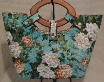 Twilight Rosegarden Diamond Handle Bag