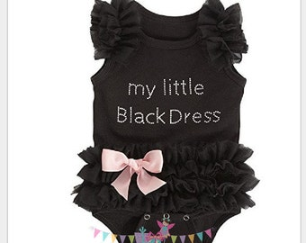 My Little Black Dress Baby Girl Bodysuit Black Tutu, baby showergift, newborn baby girl, baby girls clothing, my little black dress onesie