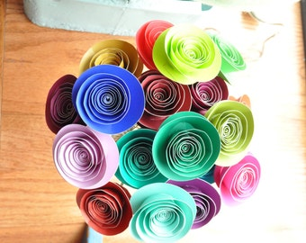 Paper Flower Bouquet, Fall PaperFlowers, paper flowers, Autumn Centerpiece