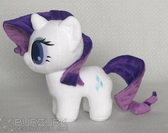 Cute Chibi Rarity My Little Pony Custom Art Plush