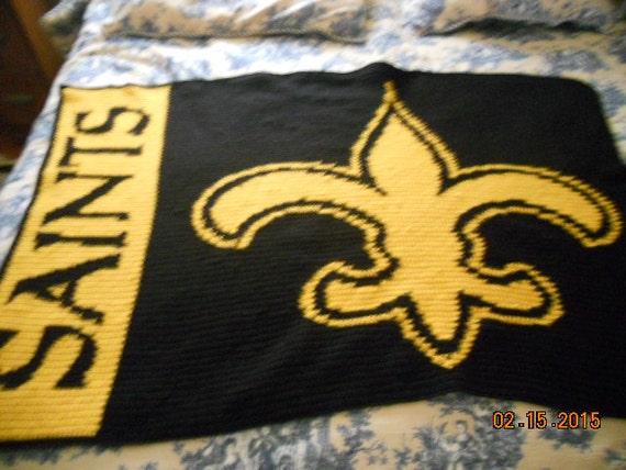 New Orleans Saints From Chuffmancrochet On Etsy Studio