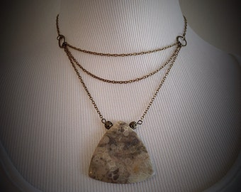 Warrior Woman Agate Stone Necklace