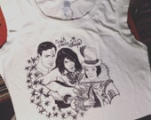 Marlon Brando Pocahontas and Me, Neil Young inspired illustration printed shirt by Natalie Jo Wright