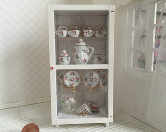 SALE Dollhouse China Cabinet and China dish Set -Free Shipping to the US