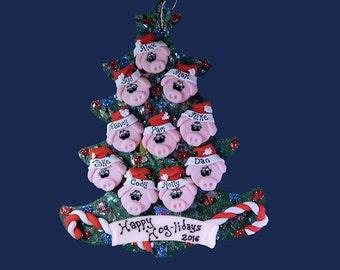 Pig (10) ornament Family tree