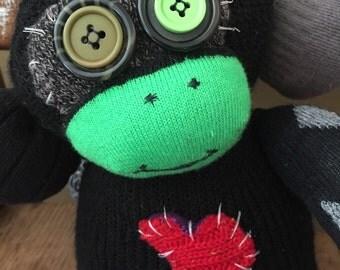 Sock Monkey Zombie Love