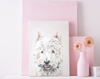 Pet Portrait - Personalised Hand-Painted Artwork - Gift for Dog/Cat Lover