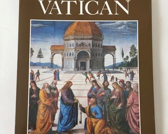 VATICAN Book / Vintage Coffee Table Book VATICAN Book Illustrated Softcover 1993 Like New