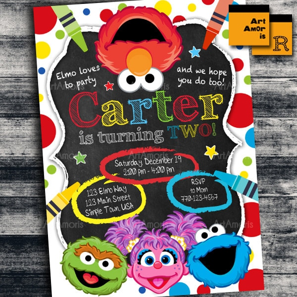 Elmo 1St Birthday Invitations gangcraftnet – Homemade Elmo Birthday Invitations
