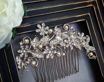 Bridal hair piece, Bridal hair comb,Bridal hair accessories, Bridal headpiece, Wedding hair accessories, Wedding headpiece, Pearl hair comb,