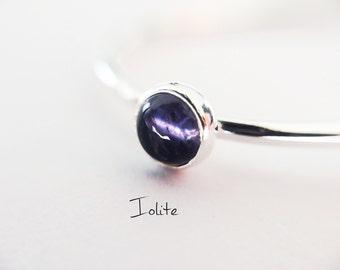 Iolite Stacking Ring, Iolite Ring, Natural Gemstone Ring, Violet, Iolite, Gemstone Stacking Ring, Genuine Gemstone, Iolite Stone, Gift
