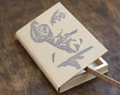 "Hollow Book Treasure Box Sherlock ""Shakespeare"", Recycled Book Box"