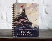 """Recycled Book Journal Tartuensis College """"Tjoma"""", Vintage Notebook"""