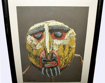 Original Bjorn Rye (1942-1998) Pastel Chalk Drawing - signed - Listed US Artist
