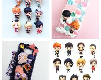 Preorder - Custom kawaii anime Haikyuu volleyball incl Hinata Kageyama decoden Phonecase for Iphone 4/4s 5, 6, 6 plus Samsung Galaxy S3 S4 S