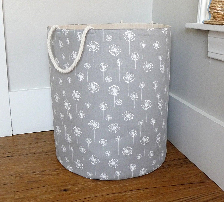 Extra Large Hamper Fabric Storage Laundry Basket Grey