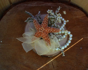 Beach wedding corsage | sugar starfish corsage | starfish corsage | wrist corsage | beach wedding