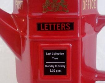 ENGLAND * British Red English Mailbox Teapot * LONDON POTTERY * United Kingdom Souvenir * English Pub * Post
